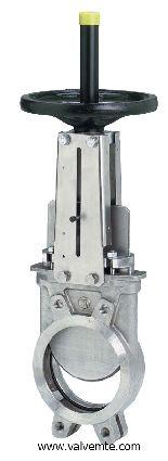 Затвор шиберный с ножом из нержавеющей стали, с уплотнением EPDM, PTFE, VITON